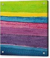 Stripes Original Painting Acrylic Print