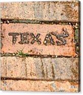 Stroll Down Texas Lane Acrylic Print