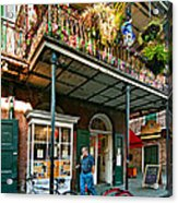 Strolling In The Quarter Acrylic Print