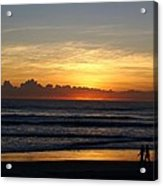 Strolling The Beach During Sunset Acrylic Print