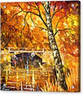 Strong Birch - Palette Knife Oil Painting On Canvas By Leonid Afremov Acrylic Print