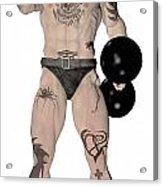 Strongest Man Fighter  Acrylic Print