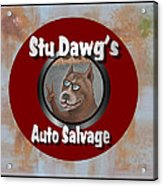 Stu Dawg's Auto Salvage Acrylic Print