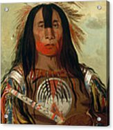 Stu-mick-o-sucks. Buffalo Bull's Back Fat. Head Chief. Blood Tribe Acrylic Print