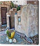 Stucco Condo In Santa Fe Acrylic Print