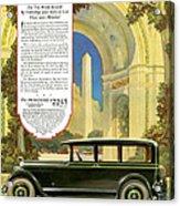 Studebaker Big Six - Vintage Car Poster Acrylic Print