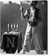 Student Works As Fire-eater Acrylic Print