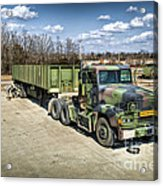 Students Checking The Trailer Of A M872 Acrylic Print