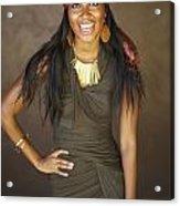 Studio Portrait Of African American Model Acrylic Print by Kicka Witte