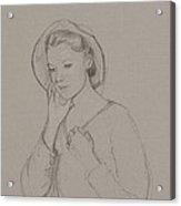 Study For Elizabeth Bennet Acrylic Print