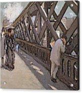 Study For Le Pont De L Europe Acrylic Print