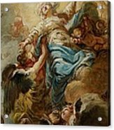 Study For The Assumption Of The Virgin Acrylic Print by Jean Baptiste Deshays de Colleville