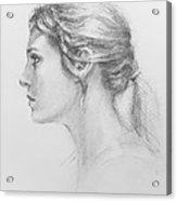 Study In Profile Acrylic Print