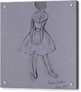 Study Of Degas Ballet Dancer Acrylic Print