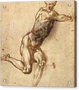 Study Of Figure To Battle Of Cascina Acrylic Print