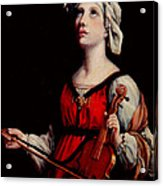 Study Of St. Cecelia Acrylic Print