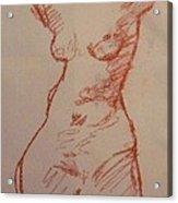 Study Sanguine Acrylic Print