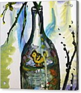Study - Yellow Ducky In  Bottle Acrylic Print
