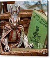 Stuffed Rabbit And Uncle Wiggly Book Acrylic Print by Amy Cicconi