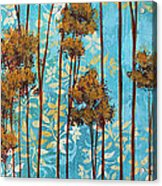 Stunning Abstract Landscape Elegant Trees Floating Dreams II By Megan Duncanson Acrylic Print