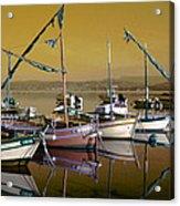 Stunning Fishing Port Acrylic Print