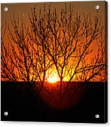 Stunning Stone Park Sunset Acrylic Print