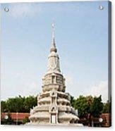 Stupa At The Silver Pagoda, Cambodia Acrylic Print