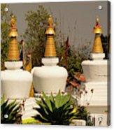 Stupas In A Buddhist Monastery Acrylic Print