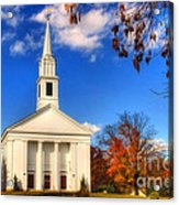 Sturbridge Church In Autumn Acrylic Print