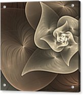 Stylized Philodendron Sepia Acrylic Print