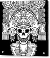 Stylized Skull. Pagan God Of Death Acrylic Print