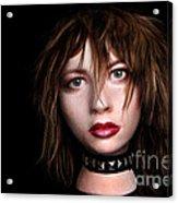 Styrofoam Wig Head With Face Acrylic Print
