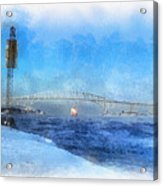 Sub-zero Blue Water Acrylic Print