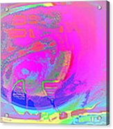 We All Live In A Pink Submarine Acrylic Print