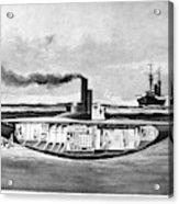 Submarine 'holland,' 1898 Acrylic Print
