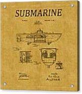 Submarine Patent 5 Acrylic Print