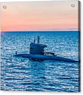 Submarine Sunset Acrylic Print