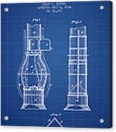Submarine Telescope Patent From 1864 - Blueprint Acrylic Print