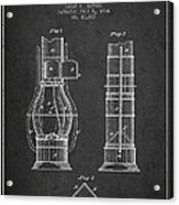 Submarine Telescope Patent From 1864 - Dark Acrylic Print