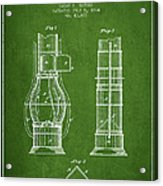 Submarine Telescope Patent From 1864 - Green Acrylic Print