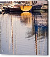 Subtle Colored Marina Reflections Acrylic Print