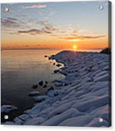 Subtle Pinks And Golds And Violets In A Bright Sunrise Acrylic Print