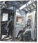 Subway Car Interior Acrylic Print