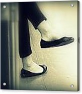 Subway Feet Acrylic Print