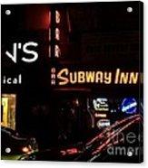 Subway Inn Bar - Vanishing Places Of New York Acrylic Print
