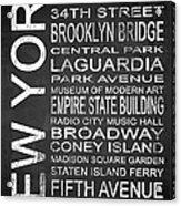 Subway New York 3 Acrylic Print