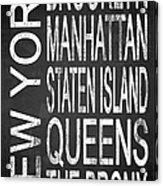 Subway New York 4 Acrylic Print