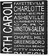 Subway North Carolina State 1 Acrylic Print