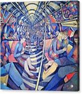 Subway Nyc, 1994 Oil On Canvas Acrylic Print