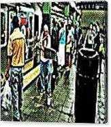 Subway Seranade Acrylic Print